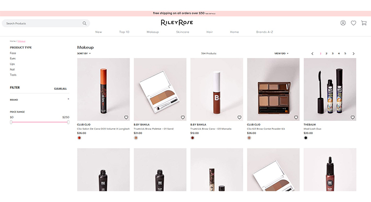 RILEY ROSE LAUNCHES E-COMMERCE SITE - Cosmetic Executive Women
